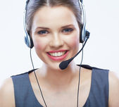Woman customer service worker isolated