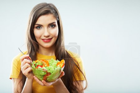 Woman hold salad