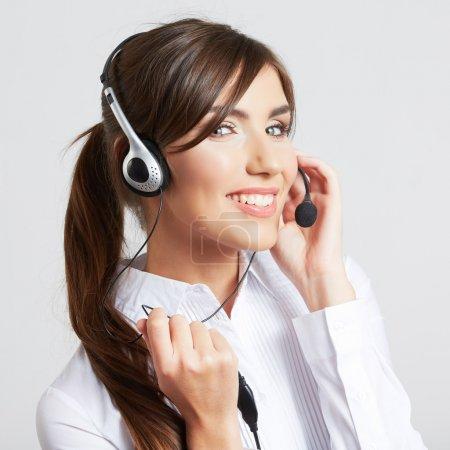 Call center smiling operator