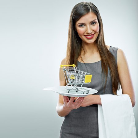 Business woman with selling concept