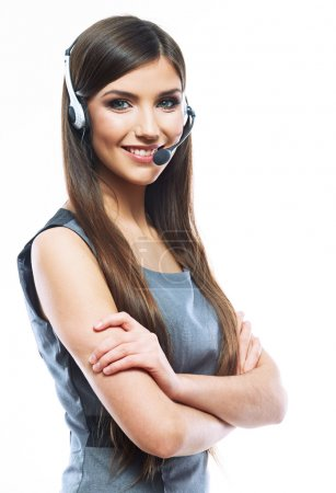 Woman customer service worker