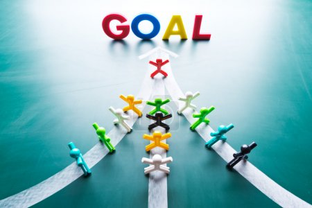Photo for Goal and Teamwork concept, group of with the same goal - Royalty Free Image