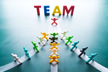 Photo for Teamwork concept, group go to thes ame direction - Royalty Free Image