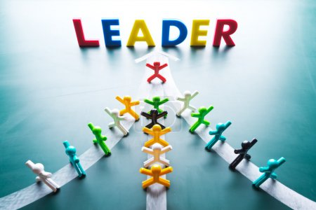 Photo for Leadership concept, group go to thes ame direction - Royalty Free Image