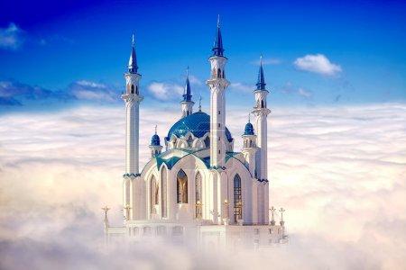 Kazan, mosque Qolsharif. Collage