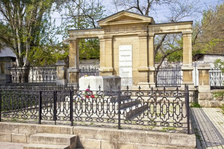 Feodosiya. Crypt at the grave of a famous artist s...