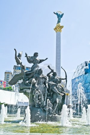 Sculptural composition on Independence Square