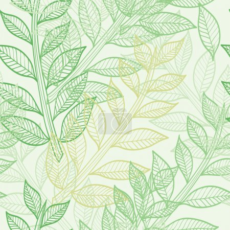 Photo for Elegant seamless pattern with green leaves for your design - Royalty Free Image