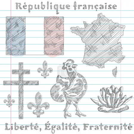 symbols of French Republic, sketch