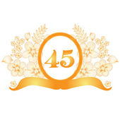 45th anniversary banner