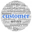 Customer service concept in word tag cloud on whit...