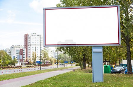 Photo for Blank billboard on road in city - Royalty Free Image