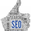 Search engine optimization SEO concept in word tag...