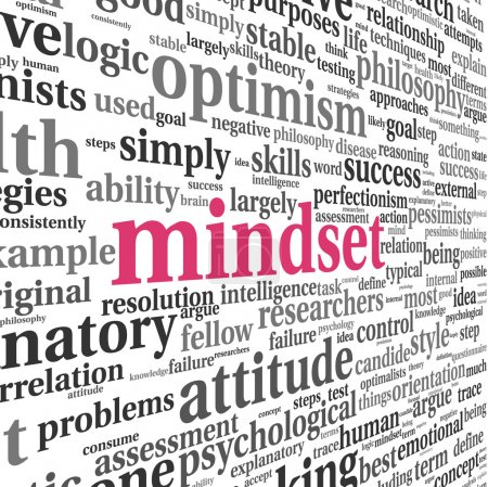 Photo for Mindset concept in word tag cloud on white - Royalty Free Image