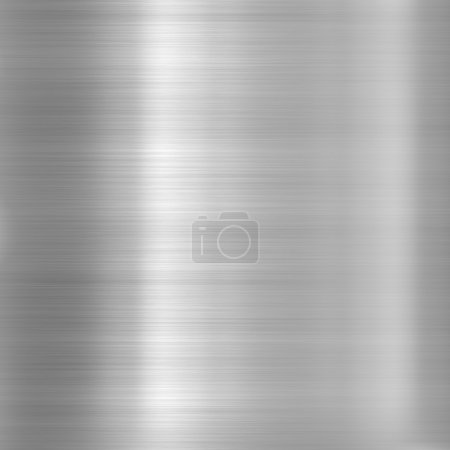 Photo for Metal background or texture of brushed aluminum plate - Royalty Free Image