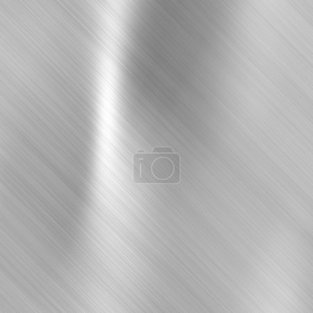 Brushed steel metallic plate