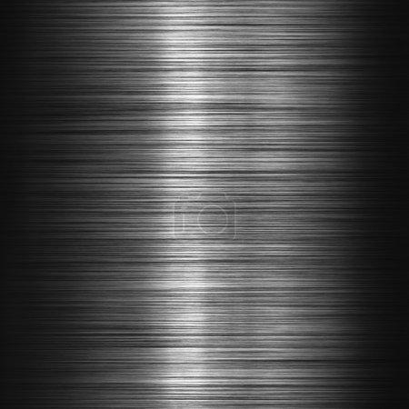 Metal background or texture of dark brushed metal ...
