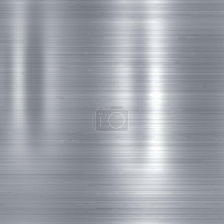 Photo pour Fond métallique ou texture de tôle d'acier brossé avec reflets - image libre de droit