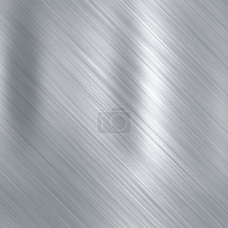 Brushed aluminium metallic plate