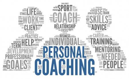 Coaching concept tag cloud