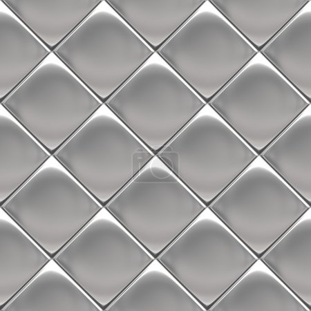 Photo for Metal background or texture of checked aluminium plate - Royalty Free Image