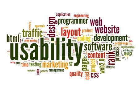 Photo pour Concept de convivialité Web dans tag cloud sur fond blanc - image libre de droit