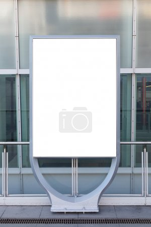 Blank billboard or poster in city