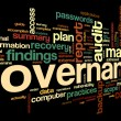 Governance and compliance in word tag cloud on bla...