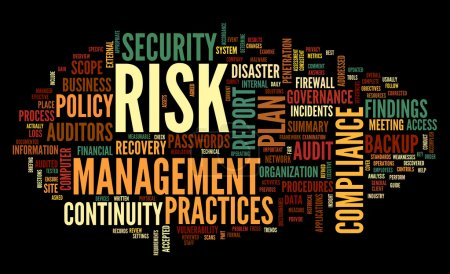 risk and compliance in word tag cloud