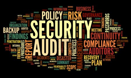 Security audit in word tag cloud