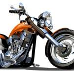 Vector Cartoon Motorbike. Available AI-10 vector f...