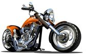 Vector Cartoon Motorbike Available AI-10 vector format separated by groups and layers for easy edit