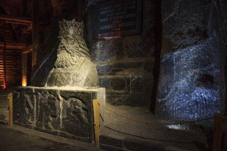 Salt sculpture depicting Casimir III the Great - King of Poland.