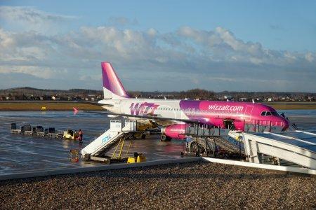Aircraft at airport terminal jetty