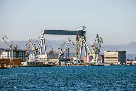 Gantry Crane in Shipyard of Gdynia, Poland.