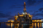 Offshore drilling platform in repair