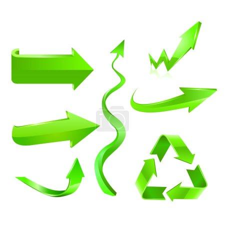 Green arrow icon set