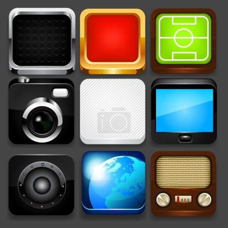 App icon set. Vector