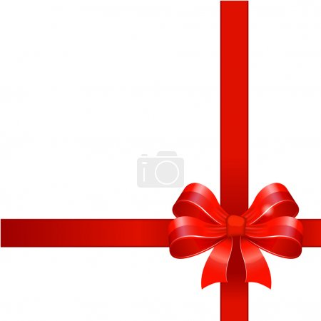 Illustration for Red gift bow with ribbon - Royalty Free Image