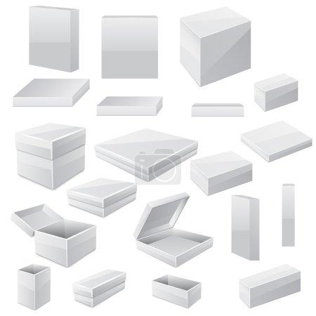 Ilustración de Sistema de la caja. Vector - Imagen libre de derechos