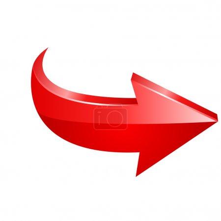 Illustration pour Flèche rouge. Vecteur - image libre de droit