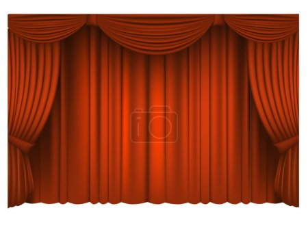Illustration pour Red Draped Theater. Vecteur - image libre de droit