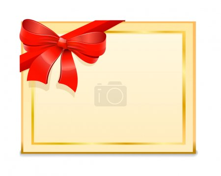 Blank Gift Card and red bow