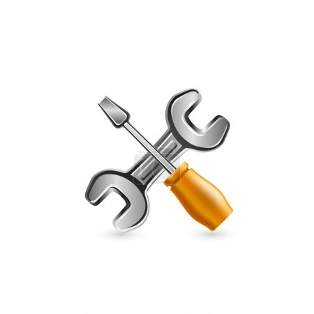 Work tool icon. Vector