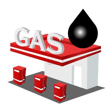 Illustration pour Bouton Icône carburant - image libre de droit