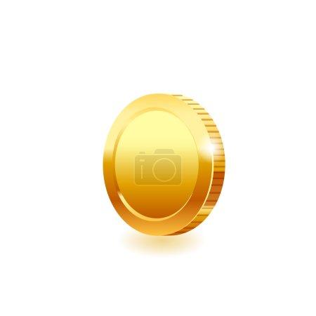 Illustration pour Pièce d'or . - image libre de droit