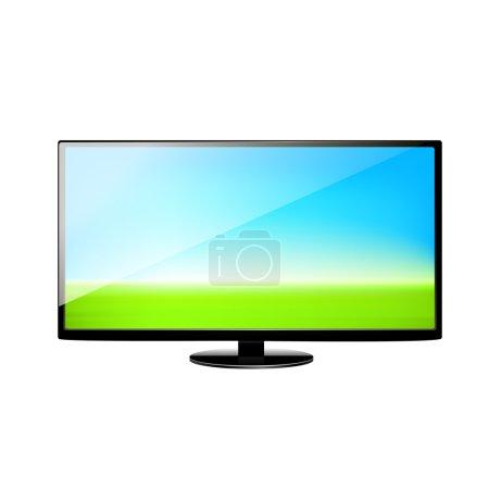 Flat screen TV set