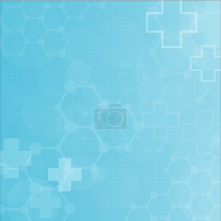 Illustration for Abstract molecules medical background (Vector). - Royalty Free Image