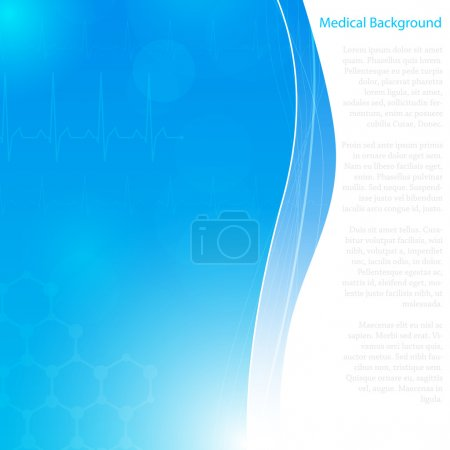 Abstract molecules medical background (Vector)....