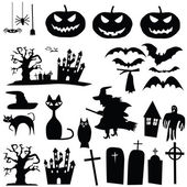 vector halloween silhouettes